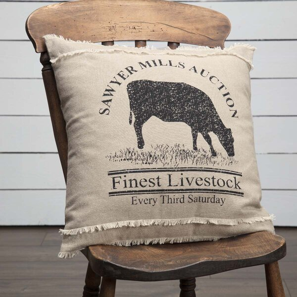 Surikova Cow 100% Cotton Throw Pillow by August Grove
